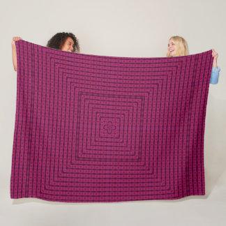 Cobertor De Velo Edredão cor-de-rosa do teste padrão da pirâmide de