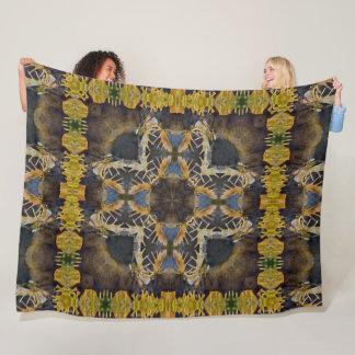 Cobertor De Velo Edredão nativa da mandala do espírito animal dos