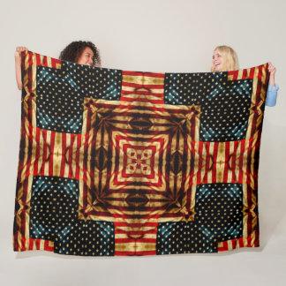 Cobertor De Velo Edredão retro da bandeira americana de guerra