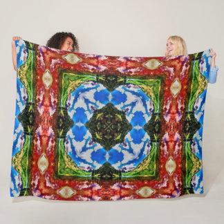 Cobertor De Velo Edredão tribal nativa da mandala da roda de