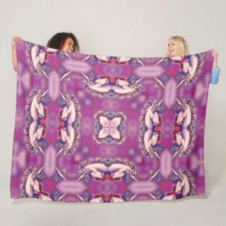 Cobertor De Velo Edredão Trippy da mandala do unicórnio cor-de-rosa