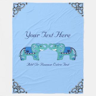 Cobertor De Velo Elefante do Henna (azul/luz - azul)