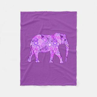 Cobertor De Velo Elefante, roxo e orquídea do redemoinho do Fractal
