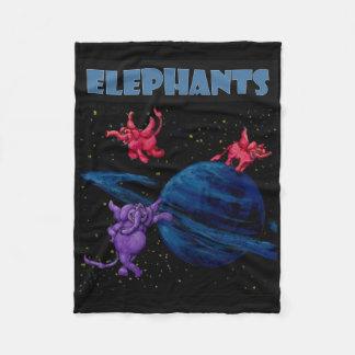Cobertor De Velo Elefantes do espaço em Saturn