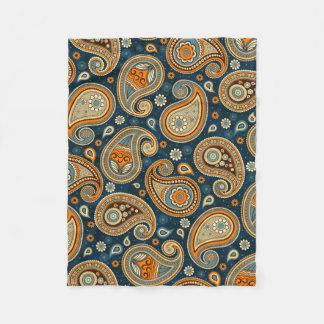 Cobertor De Velo Elegante alaranjado da cerceta azul do teste