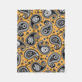 Cobertor De Velo Elegante do amarelo do teste padrão de Paisley, o