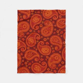 Cobertor De Velo Elegante vermelho do marrom do teste padrão de