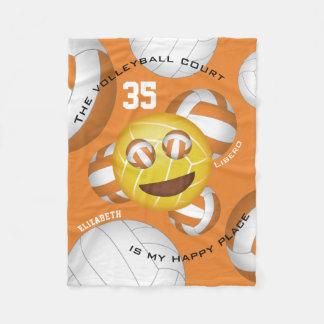 Cobertor De Velo emoji feliz do vball do smiley da corte de