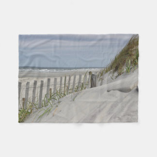 Cobertor De Velo Encalhe a duna da cerca e de areia na praia