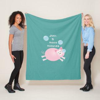 Cobertor De Velo Engraçado porco sonolento grande de um sonho de