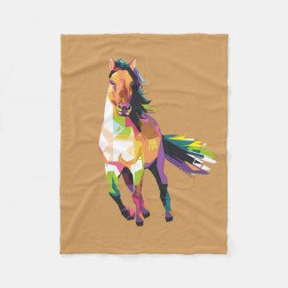 Cobertor De Velo Equestrian Running colorido do garanhão do cavalo