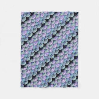 Cobertor De Velo Escalas de papel polvilhadas da sereia