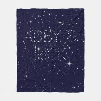 Cobertor De Velo Escrito na cobertura do meio das estrelas