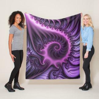 Cobertor De Velo Espiral roxa cor-de-rosa legal da arte do Fractal