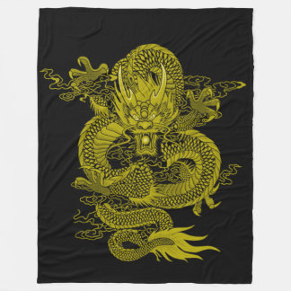 Cobertor De Velo Espírito dourado do dragão do samurai