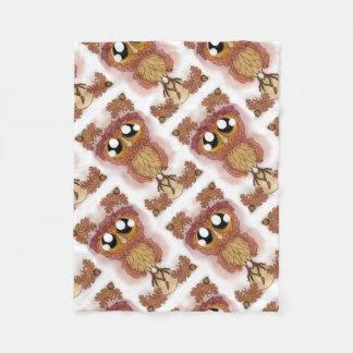 Cobertor De Velo Estar-folha da coruja em Hoo-Hoo (em outubro de