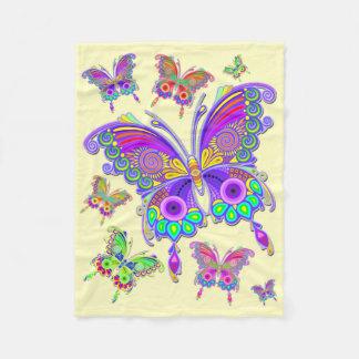 Cobertor De Velo Estilo colorido do tatuagem da borboleta