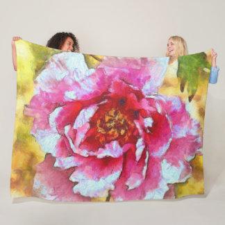 Cobertor De Velo Estilo cor-de-rosa de Van Gogh da peônia
