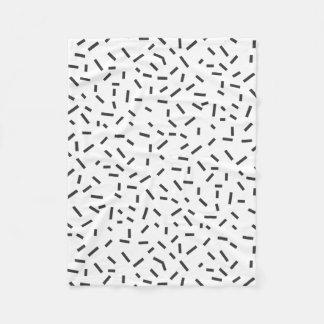 Cobertor De Velo Estilo mínimo geométrico do abstrato do preto de