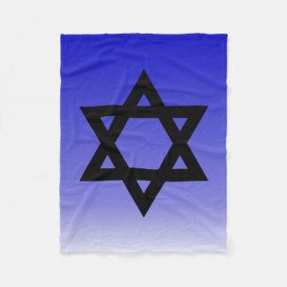 Cobertor De Velo Estrela de David preta