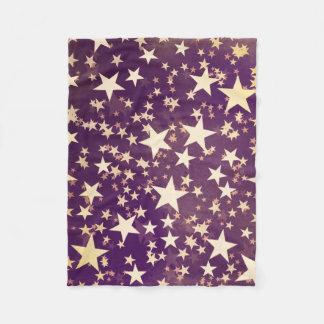 Cobertor De Velo Estrelas brilhantes do Natal do feriado do ouro