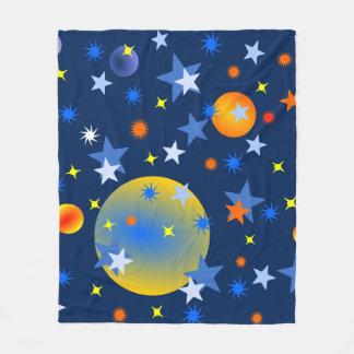 Cobertor De Velo Estrelas e planetas celestiais