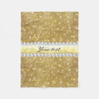 Cobertor De Velo Estrelas Sparkling e diamantes do ouro chique