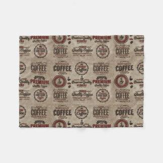 Cobertor De Velo Etiquetas retros do café para amantes do café