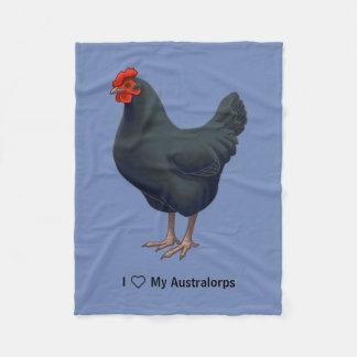 Cobertor De Velo Eu amo minha galinha de Australorp