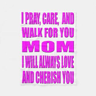 Cobertor De Velo Eu Pray, importo-me, e ando-me para você mamã
