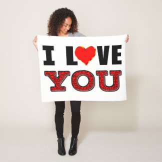 Cobertor De Velo Eu te amo