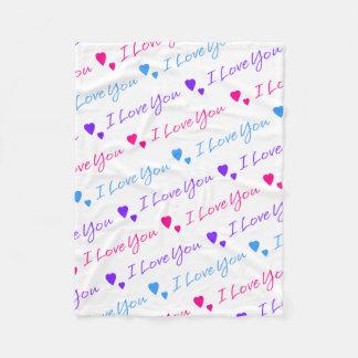 Cobertor De Velo Eu te amo coração do dia dos namorados do