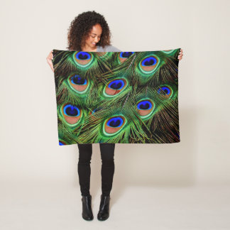 Cobertor De Velo Exposição da pena do pavão