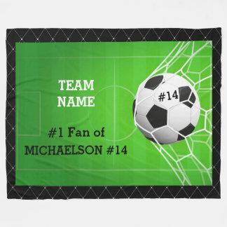 Cobertor De Velo Fã do número um do futebol do jogador