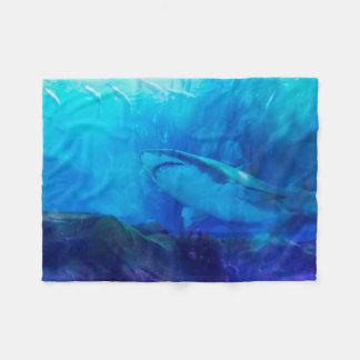 Cobertor De Velo Faça a maneira para o grande rei do tubarão branco