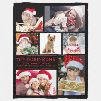 Cobertor De Velo Faça sua própria colagem da foto de família do