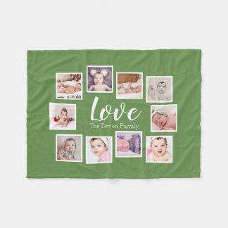 Cobertor De Velo Faça sua própria colagem de 10 fotos personalizada