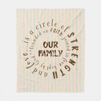Cobertor De Velo Família e citações do círculo da fé