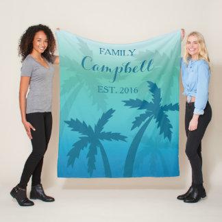 Cobertor De Velo Família feita sob encomenda tropical da palmeira