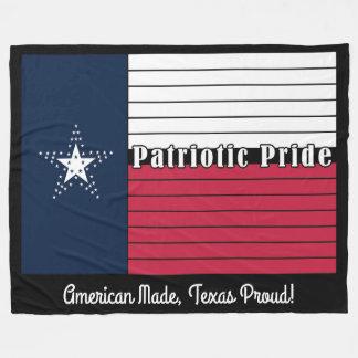 Cobertor De Velo Feita americana, Texas orgulhoso! Cobertura do