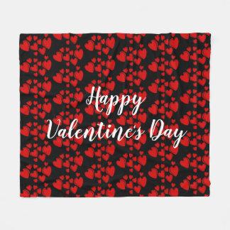 Cobertor De Velo Feliz dia dos namorados vermelho dos corações