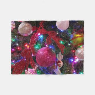 Cobertor De Velo Feriado colorido multicolorido da árvore de Natal