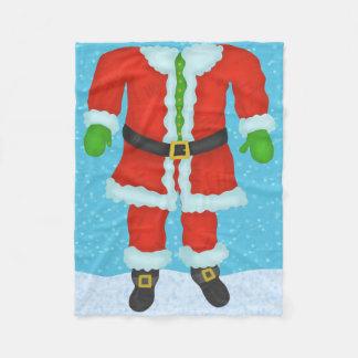 Cobertor De Velo Feriado engraçado do Natal da novidade do corpo de
