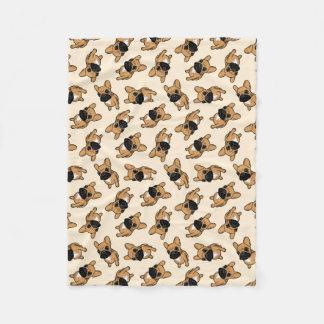 Cobertor De Velo Filhote de cachorro de Frenchie da jovem corça