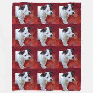 Cobertor De Velo Filhote de cachorro preto e branco de