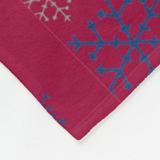 Cobertor De Velo Floco de neve bonito do Natal projetado