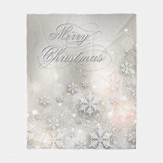 Cobertor De Velo Floco de neve elegante do feriado do Natal