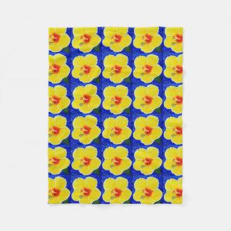 Cobertor De Velo Flor amarela do hibiscus