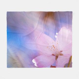 Cobertor De Velo Flor de cerejeira cor-de-rosa