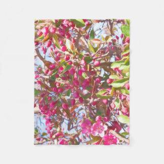 Cobertor De Velo Flor de cerejeira na cobertura do velo do